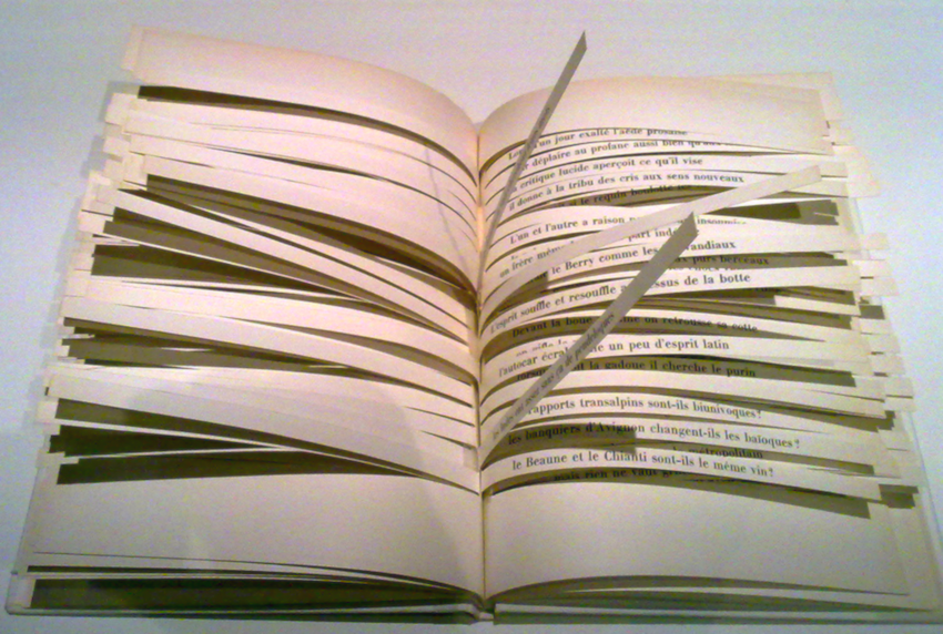 Photograph of Queneau's volume with the pages open